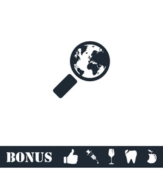Global search icon flat vector