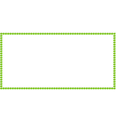 Green apple rectangle billboard frame work with vector