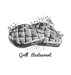 grill restaurant steak house vector image
