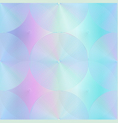 holographic circle pattern vector image