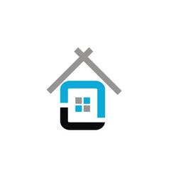house simple logo design template vector image