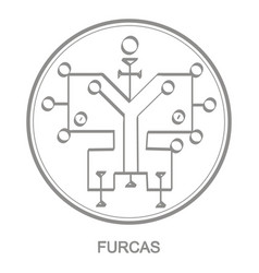 Icon with symbol demon furcas vector