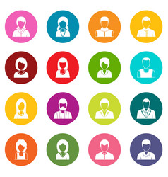 infographic design parts icons many colors set vector image
