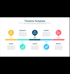 infographic elements for timeline template vector image
