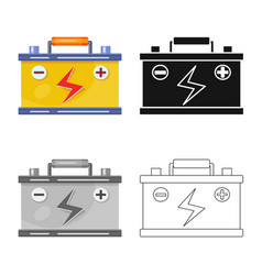 Isolated object battery and accumulator symbol vector
