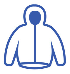 isolated sweater icon vector image