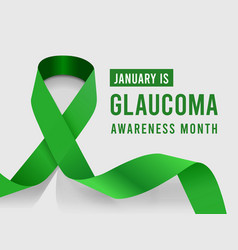 january is glaucoma awareness month vector image