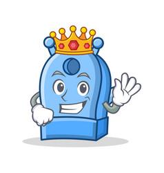 king pencil sharpener character cartoon vector image
