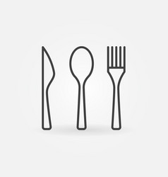 Knife spoon and fork icon vector