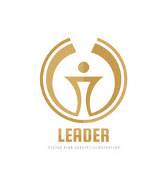 leader - business logo template concept vector image