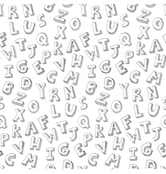 Letters hand written pattern vector