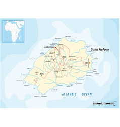 Map british island st helena vector