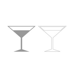 martini glass the grey set icon vector image
