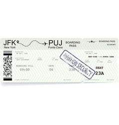 modern and realistic boarding pass vector image