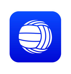 Modern volleyball icon blue vector