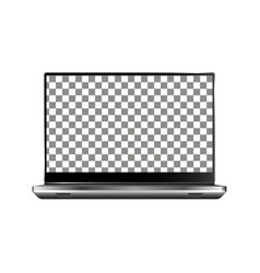 new laptop front and black drawing eps10 vector image