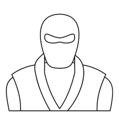 Ninja man icon outline style vector