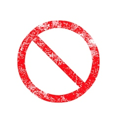 Not allowed sign red grunge rubber stamp vector