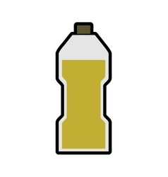 Olive oil inside bottle of glass icon Jar design vector