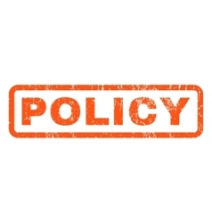 Policy Rubber Stamp vector image
