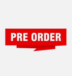 Pre order vector