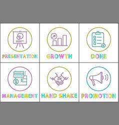 presentation and growth set vector image