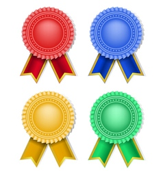 ribbons badge vector image