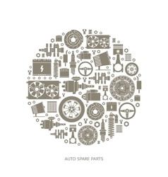 Set auto spare parts vector