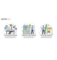 set concept with business concept vector image