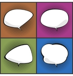 Set of Speech Bubbles on Pop Art Background vector