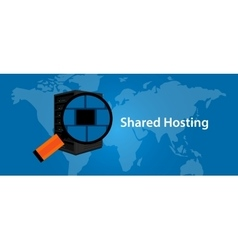 Shared hosting web- services infrasctructure vector image