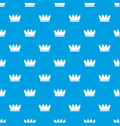Silhouette crown pattern seamless blue vector