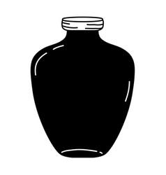 Silhouette middle mason jar preserve style vector