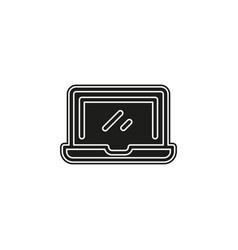 simple laptop icon vector image