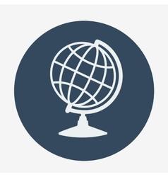 Single globe icon vector