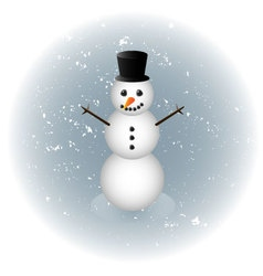Snowman alone in winter vector