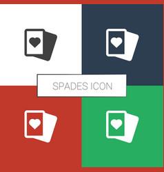 Spades icon white background vector