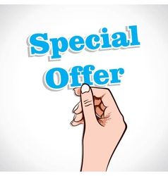 Special Offer Word In Hand vector
