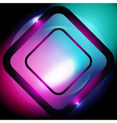Square abstract glowing background vector