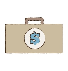 Suitcase money business accessory vector