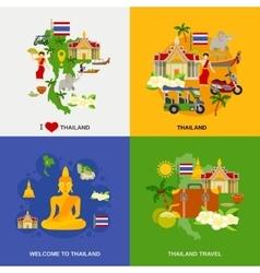 Thailand Tourism Icons Set vector