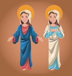 virgin mary spiritual catholic image vector image