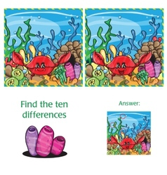 Visual Game find 10 differences with answer vector image
