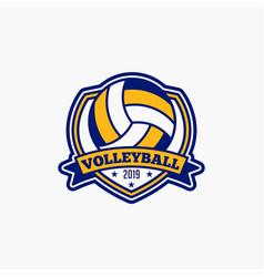 volleyball club badge logo-6 vector image