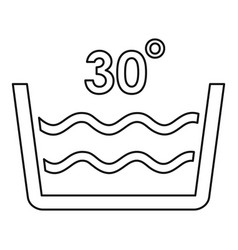 Wash cold water icon outline style vector