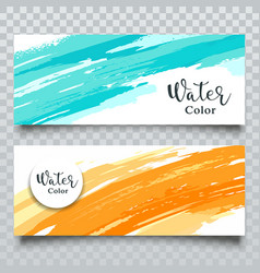 Watercolor abstract colorful banner vector