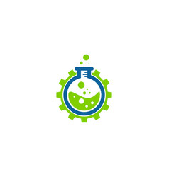 wheel science lab logo icon design vector image
