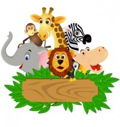 wild family vector image