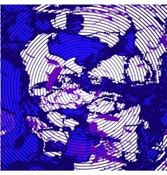 Purple blue background with concentric circles vector
