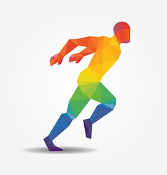 Running geometric concept design colour vector image vector image